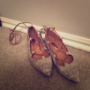 Halogen lace up flats